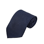 PD-51 | Small Steel Blue H Pattern On Navy Men's Printed Design Necktie