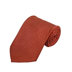 PD-52 | Small Gold H Pattern On Red Men's Printed Design Necktie