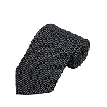 PD-53 | Small Cream H Pattern On Black Men's Printed Design Necktie