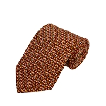 PD-62 | Gold W. Olive/Cream Anchor Pattern On Black Men's Printed Design Necktie