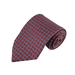 PT-02B | Circle Print Pattern on Light Raspberry Men's Printed Design Necktie