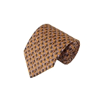 PT-03C | Lavender French Horn Patterns on Yellow Men's Printed Design Necktie