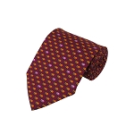 PT-06A | Yellow Elephant Pattern on Maroon Men's Printed Design Necktie