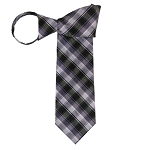 WZ-133A | Multi-Shade Purple Plaid Woven Zipper Tie