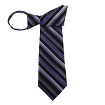 WZ-148 | Multi-Shade Purple Striped Woven Zipper Tie