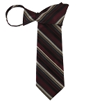 WZ-160 | Maroon, Copper and Beige Multi-Stripe Woven Zipper Tie