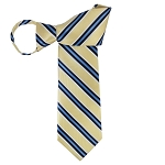 WZ-173 | Black, Steel Blue, White and Light Yellow Striped Woven Zipper Tie