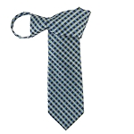 WZ-176 | Pear Green, Steel Blue and Navy Blue Lattice Woven Zipper Tie