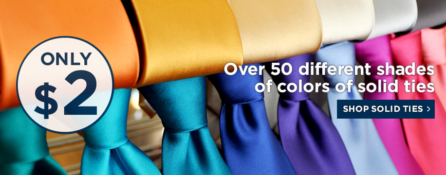 Solid Color Neckties