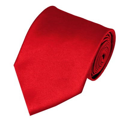 PS-01 | Solid Red Traditional Men's Necktie