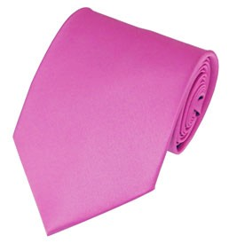 PS-05 |Solid Hot Pink Traditional Men's Necktie
