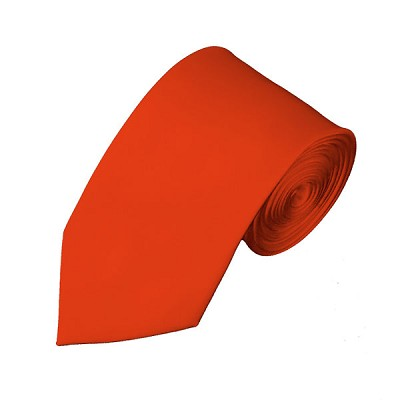 SL-04 | Solid Coral Red Slim Tie For Men