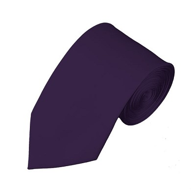 SL-103 | Solid Eggplant Slim Tie For Men