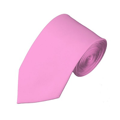 SL-15 | Solid Pink Slim Tie For Men