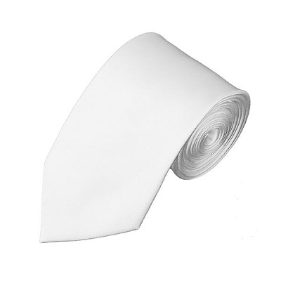 SL-20 | Solid White Slim Tie For Men