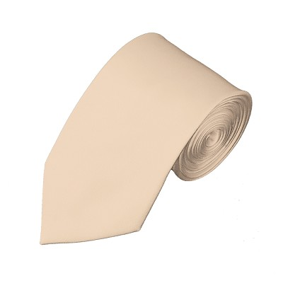 SL-43 | Solid Peach Slim Tie For Men