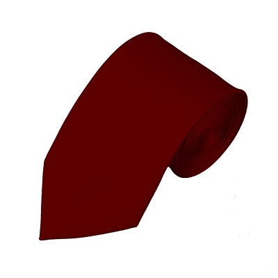 SL-62 | Solid Burgundy Slim Tie For Men