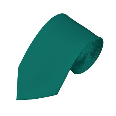 SL-84 | Solid Teal Green Slim Tie For Men