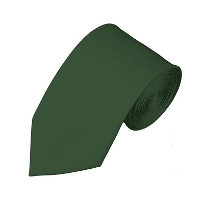 SL-96 | Solid Hunter Green Slim Tie For Men