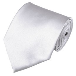 PS-20 | Solid White Traditional Men's Necktie
