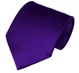 XL-31 | Solid Deep Purple Men's X-Long Tie