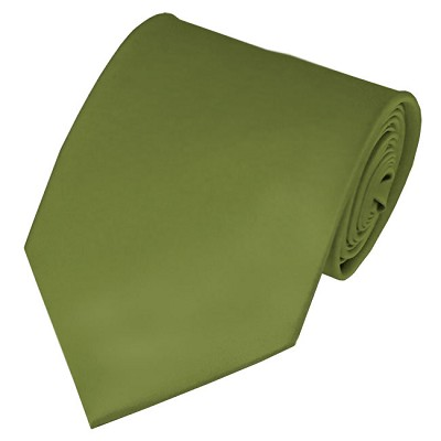 XL-34 | Solid Olive Green Men's X-Long Tie