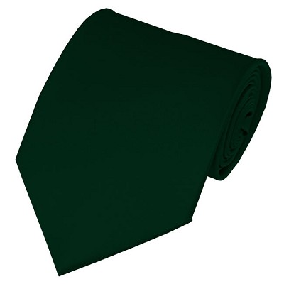 PS-37 | Solid Forest Green Traditional Men's Necktie