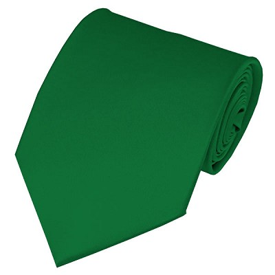 PS-38 | Solid Kelly Green Traditional Men's Necktie