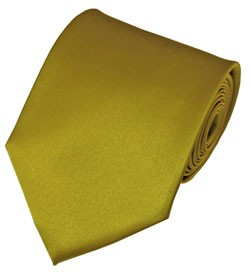 PS-47 | Solid Mustard Traditional Men's Necktie
