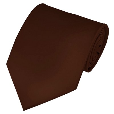PS-55 | Solid Brown Traditional Men's Necktie