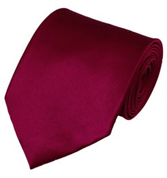 PS-57 | Solid Raspberry Traditional Men's Necktie