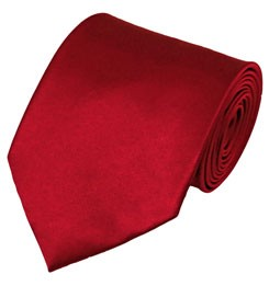PS-64 | Solid Crimson Traditional Men's Necktie