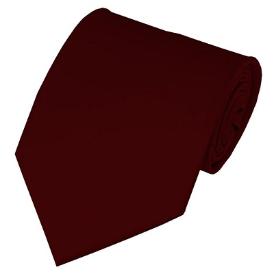 PS-93 | Solid Maroon Traditional Men's Necktie