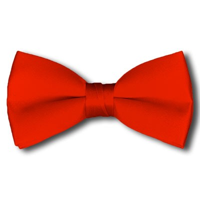 BT-04 | Solid Coral Red Pre-Tied Bow Tie