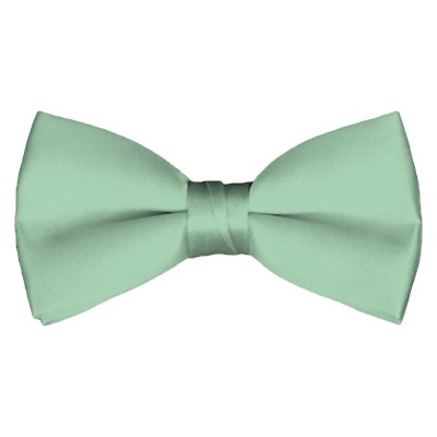 BT-66 | Solid Light Sage Green Pre-Tied Bow Tie