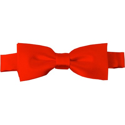 BTK-04 | Kids Solid Coral Red Pre-Tied Bow Tie