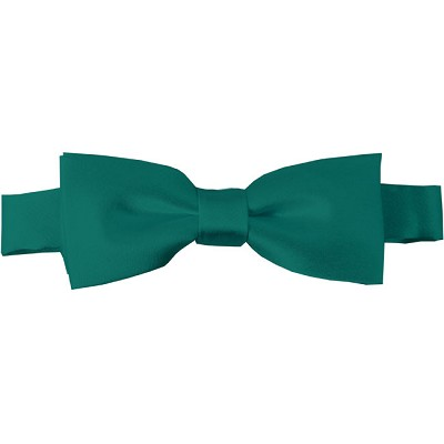 BTK-84 | Kids Solid Teal Green Pre-Tied Bow Tie