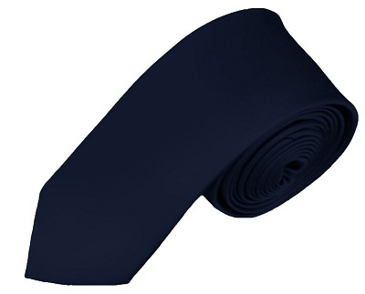 YS-53 | Boys' Solid Navy Blue Necktie