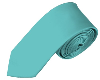 YS-74 | Boys' Solid Aqua Green Necktie