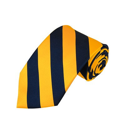 DS-5348 | Navy and Gold College Stripe Woven Tie