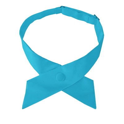 CO-18 | Solid Turquoise Crossover Tie for Women