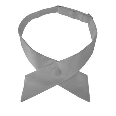 CO-50 | Solid Silver Crossover Tie for Women
