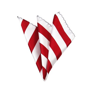 DHS-0120 | Red and White College Stripe Handkerchief