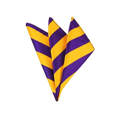 DHS-3148 | Purple and Gold College Stripe Handkerchief