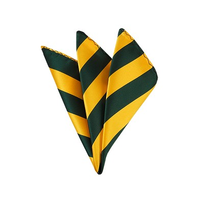 DHS-3748 | Forest Green and Gold College Stripe Handkerchief