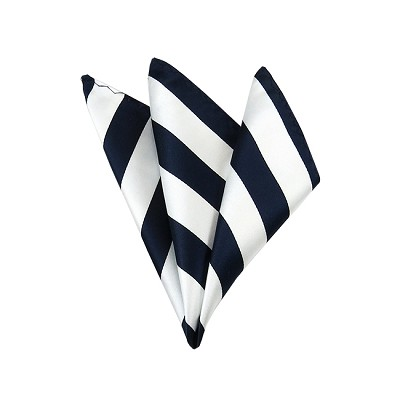 DHS-5320 | Navy and White College Stripe Handkerchief