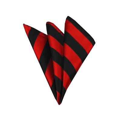 DHS-5801 | Black and Red College Stripe Handkerchief
