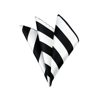 DHS-5820 | Black and White College Stripe Handkerchief