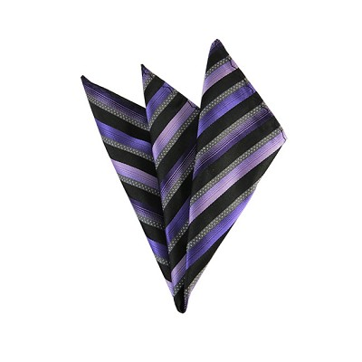 DH-148 | Multi-Shade Purple Repp Striped Men's Woven Handkerchief