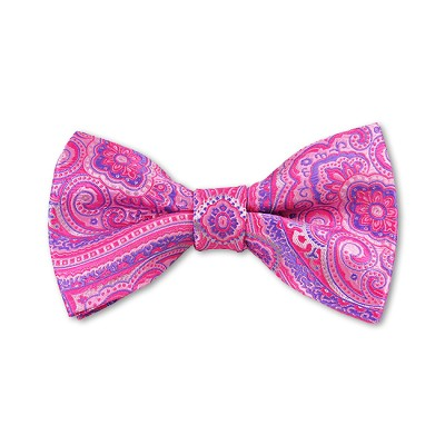 DB-08 | Pre-Tied Pink, Fuchsia and Purple Woven Paisley Bow Tie